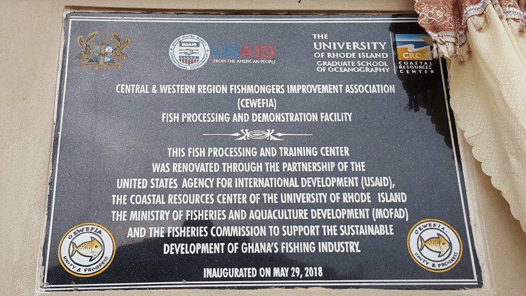 Plaque on CEWEFIA Center