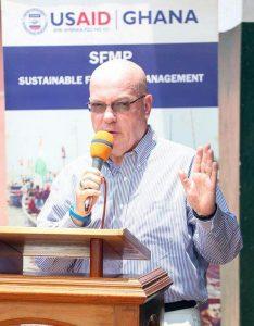 US Ambassador Jackson in an address at Elmina