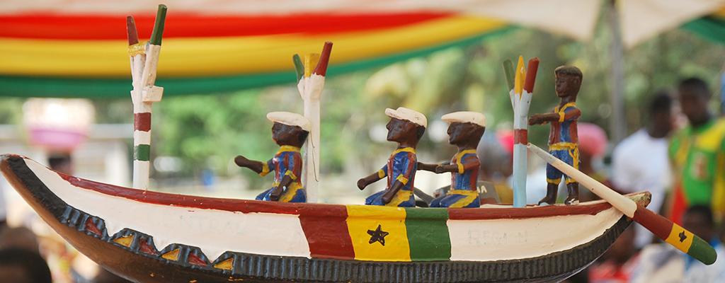 Wood Carving of Ghana Fishing Canoe