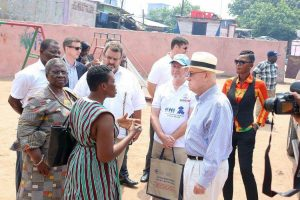 Ambassador Jackson interacting with SFMP team