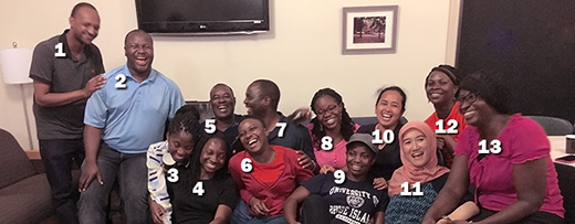 Pictured above are: 1) Asta Habtemichael, Eritrea; 2) Innocent Gumulira, Malawi; 3) Michelle Naa Kordei Clottey, Ghana; 4) Jemimah Etornam Kassah, Ghana; 5) Lawrence Armah Ahiah, Ghana; 6) Ivy Serwaa Gyimah Akuoko, Ghana; 7) Elliot Watson Lungu, Malawi; 8) Margaret Fafa Awushie Dzakpasu, Ghana; 9) Evelyn Takyi, Ghana; 10) Fitri Zuliana, Indonesia; 11) Heva Yumi, Indonesia; 12) Vida Samantha Osei, Ghana; and 13) Rosina Gobbina, Ghana.