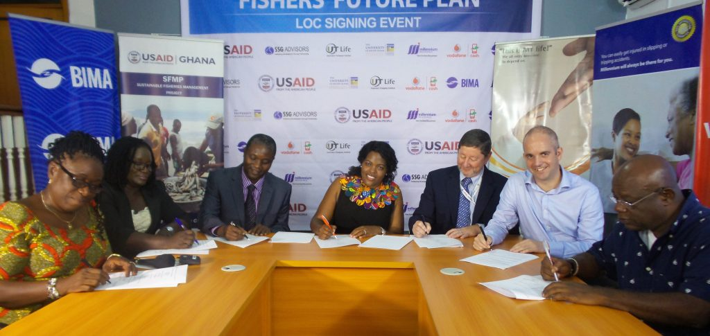Partners of Fishers Micro-Insurance, signing a letter of collaboration