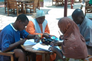 WIO-COMPAS MPA Pro Level 2 Certification Assessment: Candidates conducting a field exercise (credit: WIOMSA)