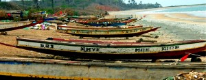 artisanal fishing boats, The Gambia