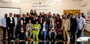 Some of the participants at the Climate Change Adaptation workshop in Ghana in June.