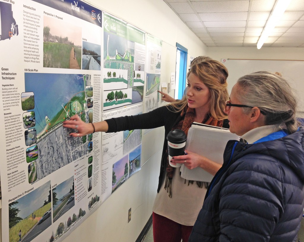 Visualizing what green infrastructure can look like in a coastal community. (credit:RI Sea Grant)