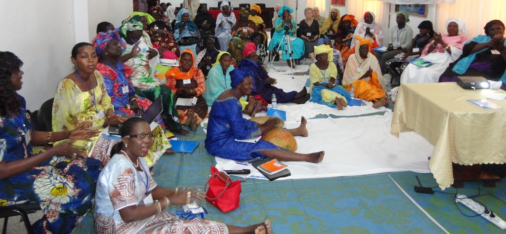 Women fisherfolk meet in Senegal. (credit: CRC/USAID COMFISH)
